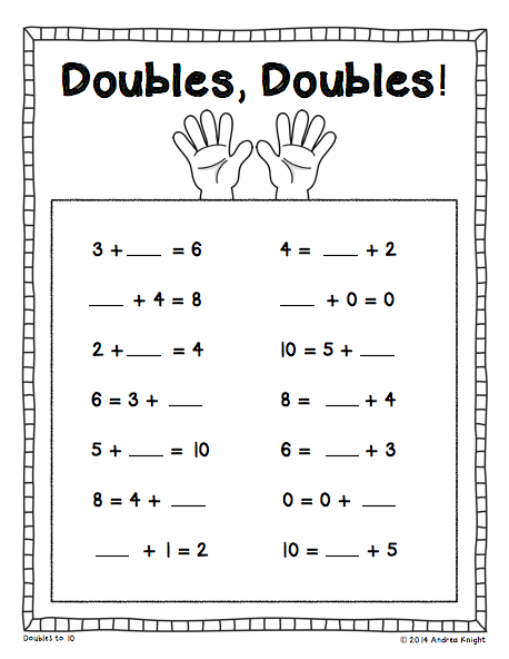 Missing Addends {Written Equations & Word Problems, Grades 1-2 ...