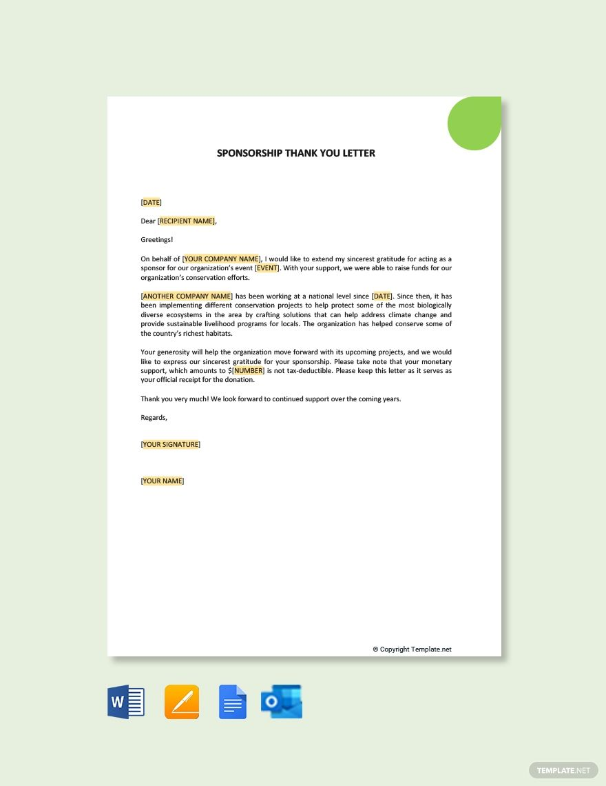 Acknow Letters Good Example Via Fundly Sponsorship Letter Letter Templates Lettering