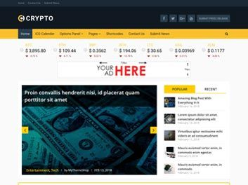 Crypto a bitcoin & cryptocurrency wordpress theme nulled