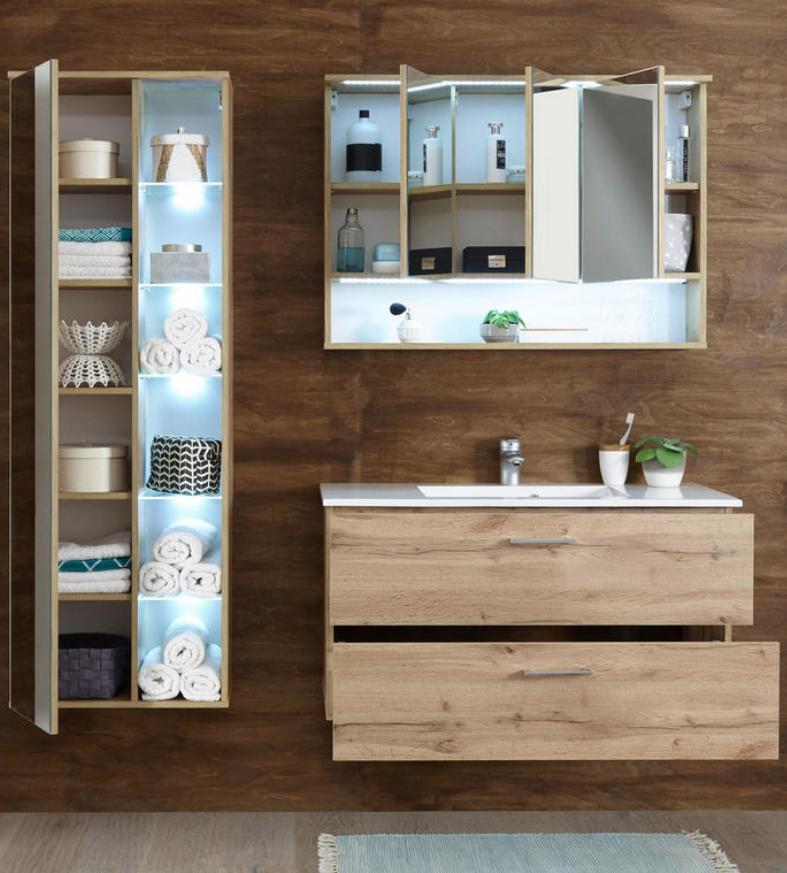 Spiegelschrank 3 Turen Beleuchtung Hier Bestellen Bad Einrichten Badezimmerausstattung Badezimmer Einrichtung