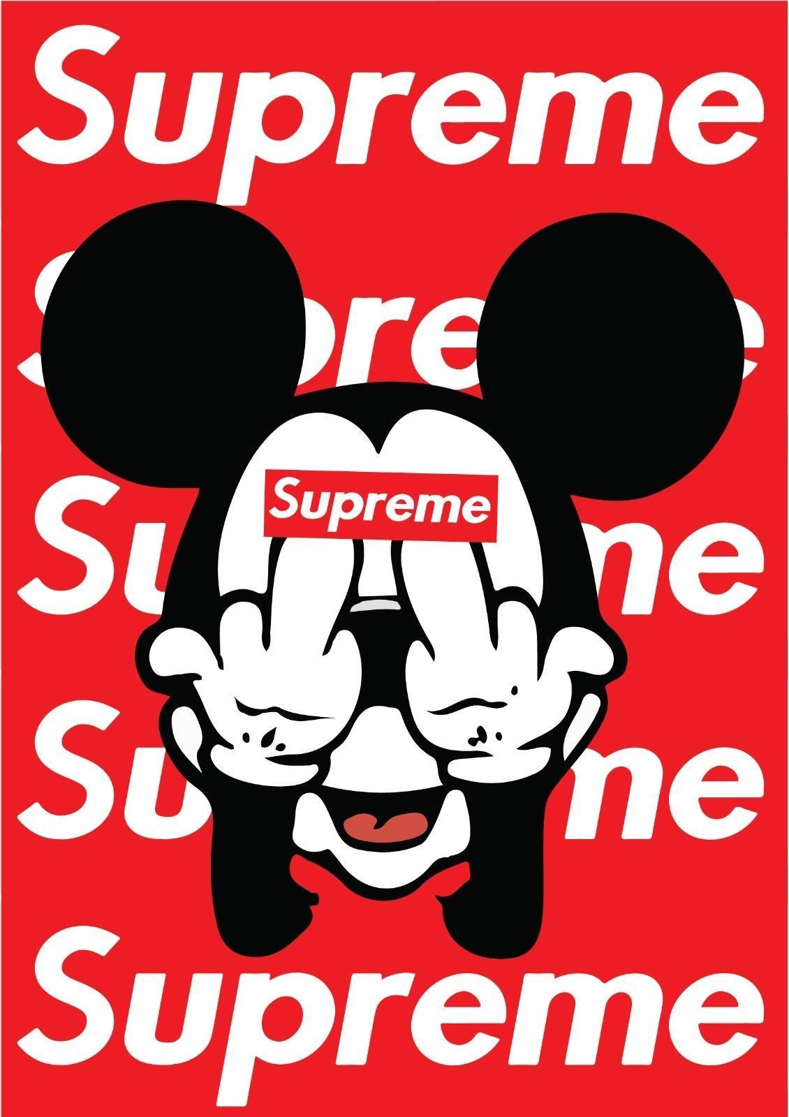 Supreme Hypebeast Poster Minimalist Posters In 2020 Minimalist Poster Supreme Iphone Wallpaper Mickey Mouse