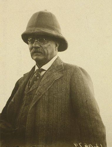 99f6331b20c75 Teddy Roosevelt in a fetching polka dot tie & pith helmet ...
