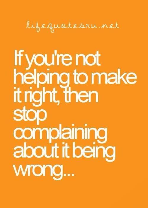 Take the No Complaints Challenge