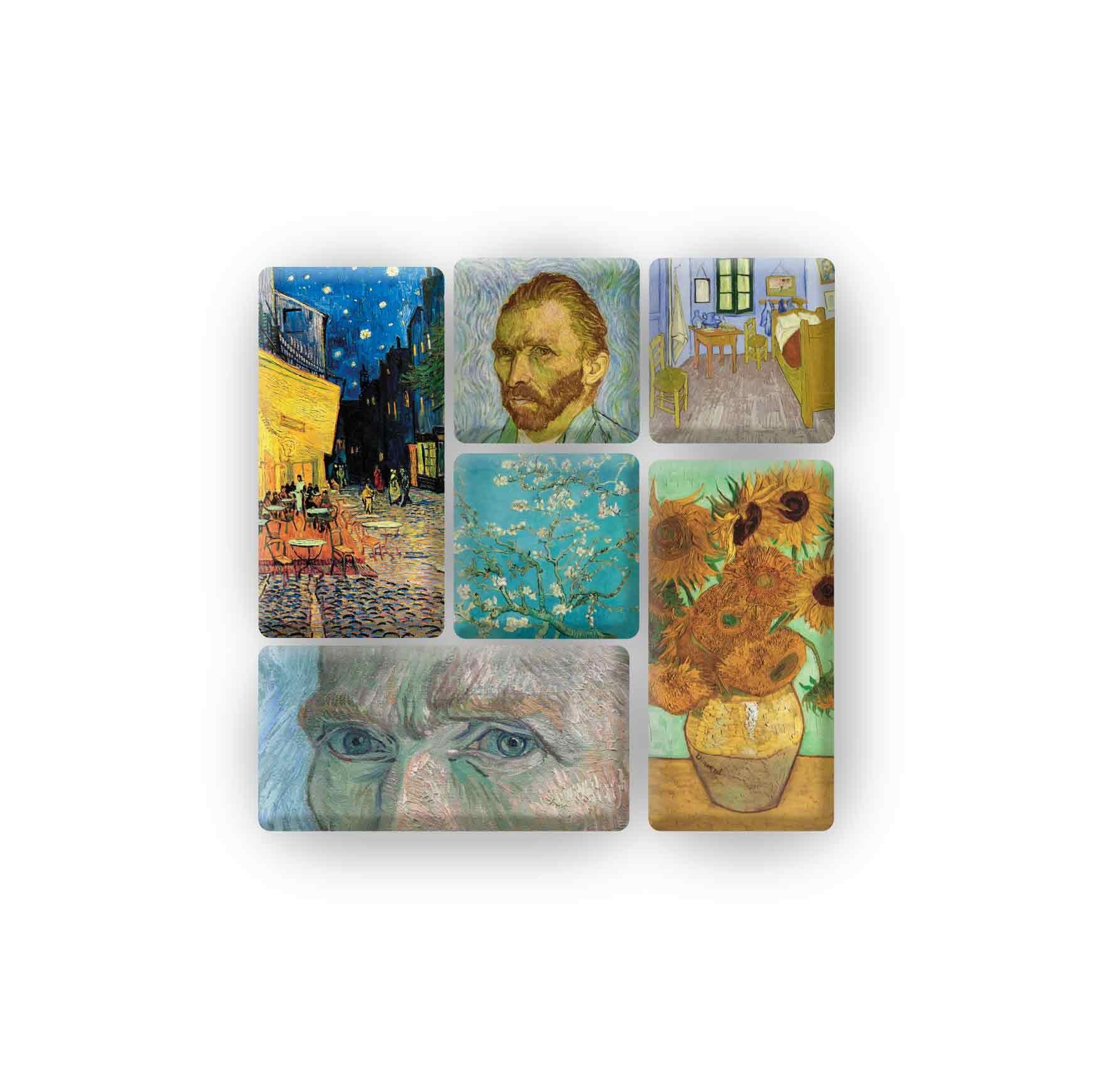 Vincent Van Gogh Magnet Set With Different Art Works Set Imanes Con Distintas Obras Kessler Museum Merchandising Kessler Imanes Vincent Van Gogh Van Gogh