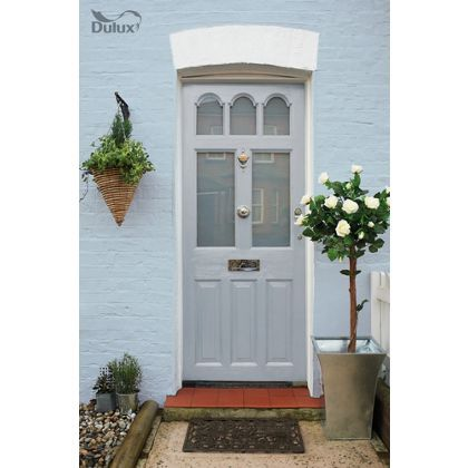 Dulux Weathershield Dove Slate Exterior Satin Paint 750ml Homebase Painted Front Doors Gray House Exterior House Exterior