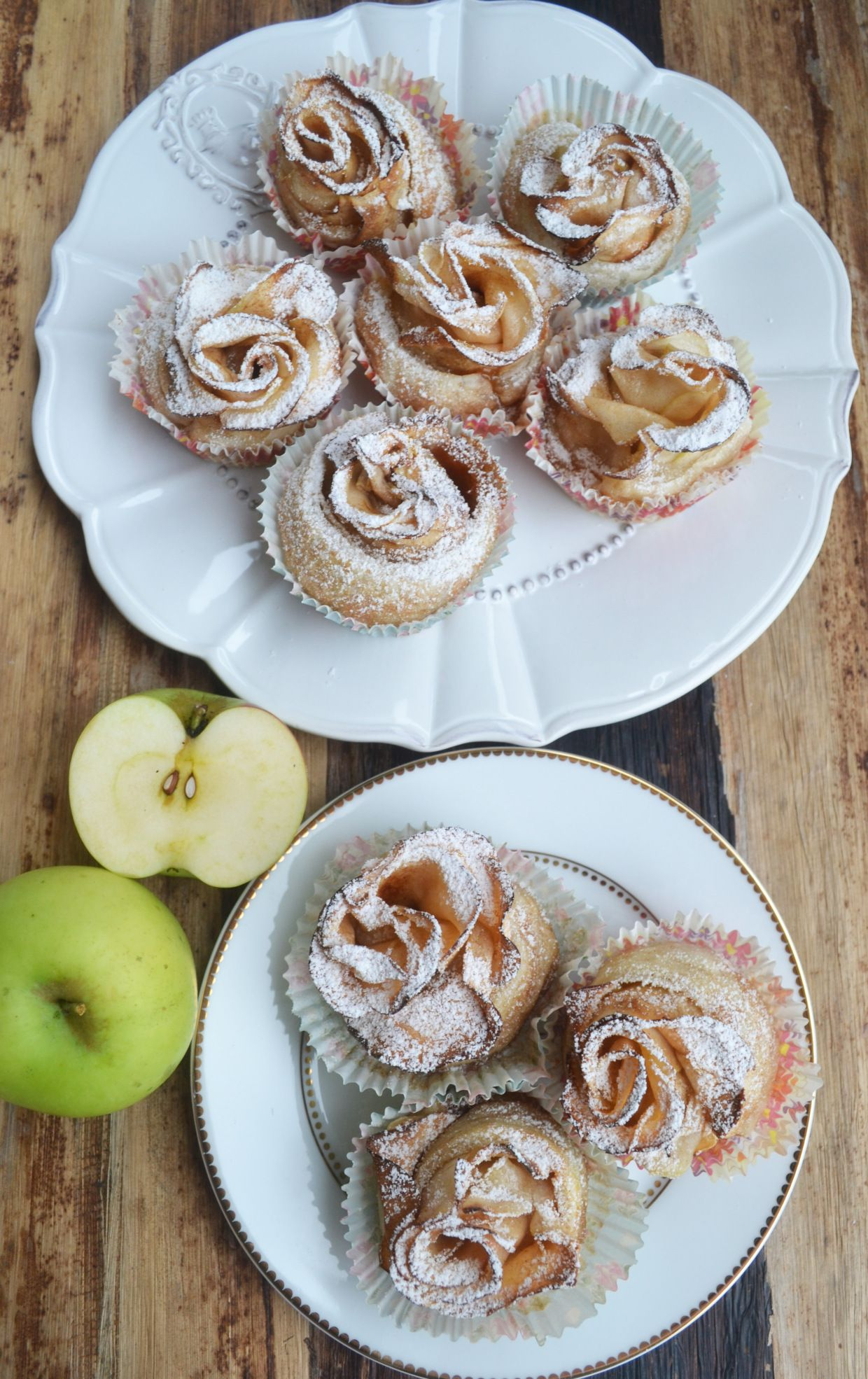 Eine süsse Kleinigkeit – mit Liebe gebacken! Apfel-Blätterteig-Rosen