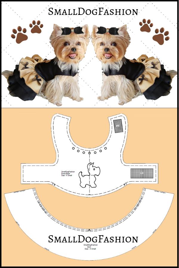 Dog Clothes Patterns : clothes, patterns, Clothes, Pattern, Small, Sewing, Dress, Patterns,, Clothes,, Patterns