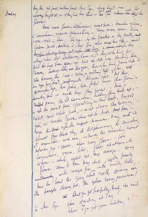 This extract is taken from the working draft of one of Virginia Woolf's most admired novels - 'Mrs Dalloway'
