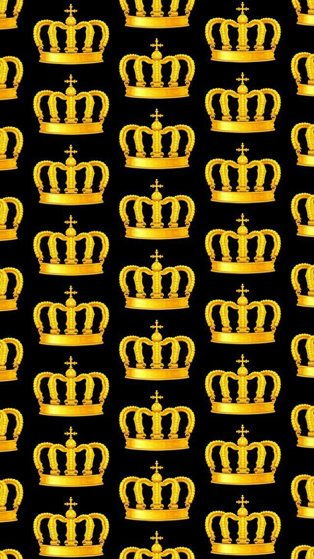 Golden Wallpaper Queen Crown Background Patterns Dope Art Backgrounds Iphone Wallpapers Black Gold Crowns Yeezy