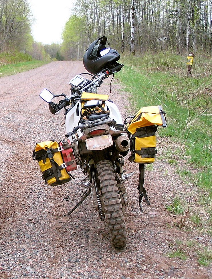 Wolfman Luggage - Nomadic Equipment Incorporated, rack and saddlebag set-up for small dual sports