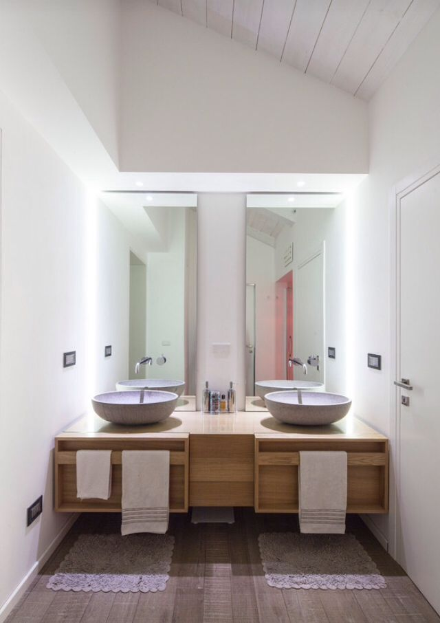 Bagno doppio lavabo | 작은욕실 | Pinterest | Interiors