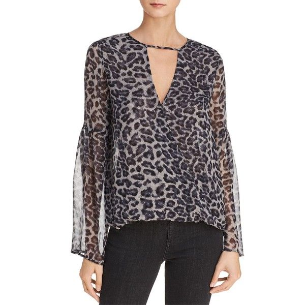 76f351cac1551 Ella Moss Sheer Leopard-Print Silk Top ( 180) ❤ liked on Polyvore featuring
