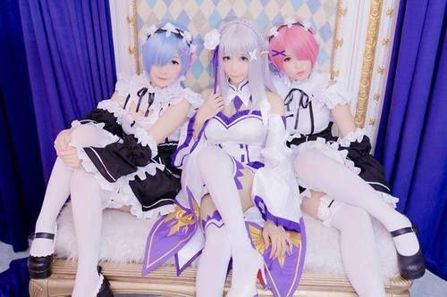 Re Zero Kara Hajimeru Isekai Seikatsu Emilia Rem Ram Cosplay Cute Cosplay Cosplay Anime Amazing Cosplay