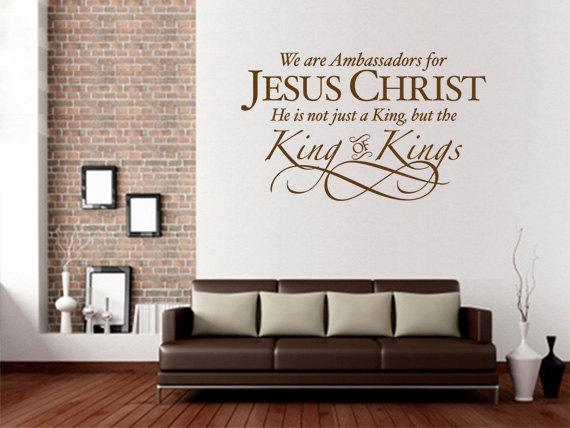christian wall decal. ambassadors for jesus christ - code 093