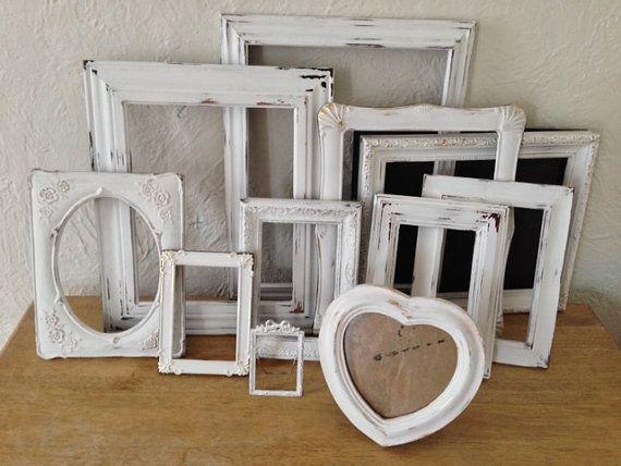 Shabby chic frames wedding , ornate set of 11, 10x13,8x10,5x7,x6,5x5