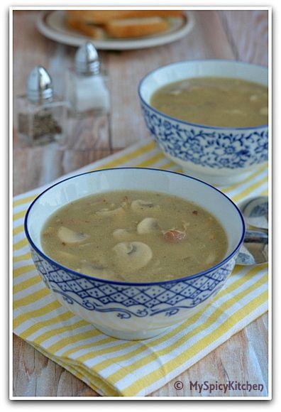 Czech Republic - Houbova Polevka Myslivecka ~ Hunter's Mushroom Soup - MySpicyKitchen