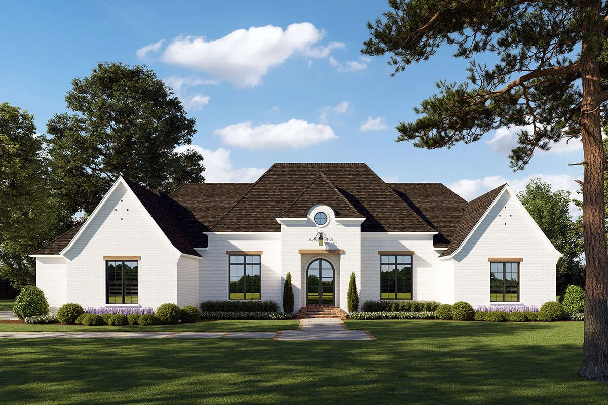 House Plan 4534 00043 French Country Plan 2 765 Square Feet 4 Bedrooms 3 5 Bathrooms French Country House French Country Exterior French Country House Plans