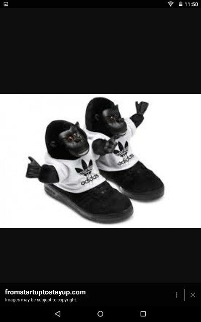 buy popular ec70a 45658 Adidas monkey shoes!!!  AdidasMonkeyShoes  Addias  Monkeys  Shoes  Trainers   Cute. Adidas Jeremy Scott Originals JS Gorilla Shoes Nike Basketball ...