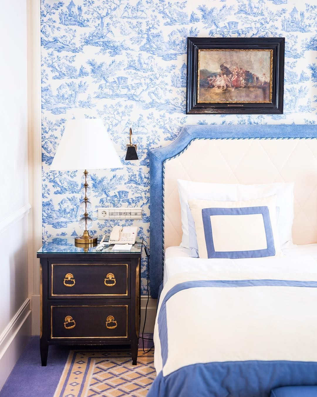 Blue Toile Bedroom