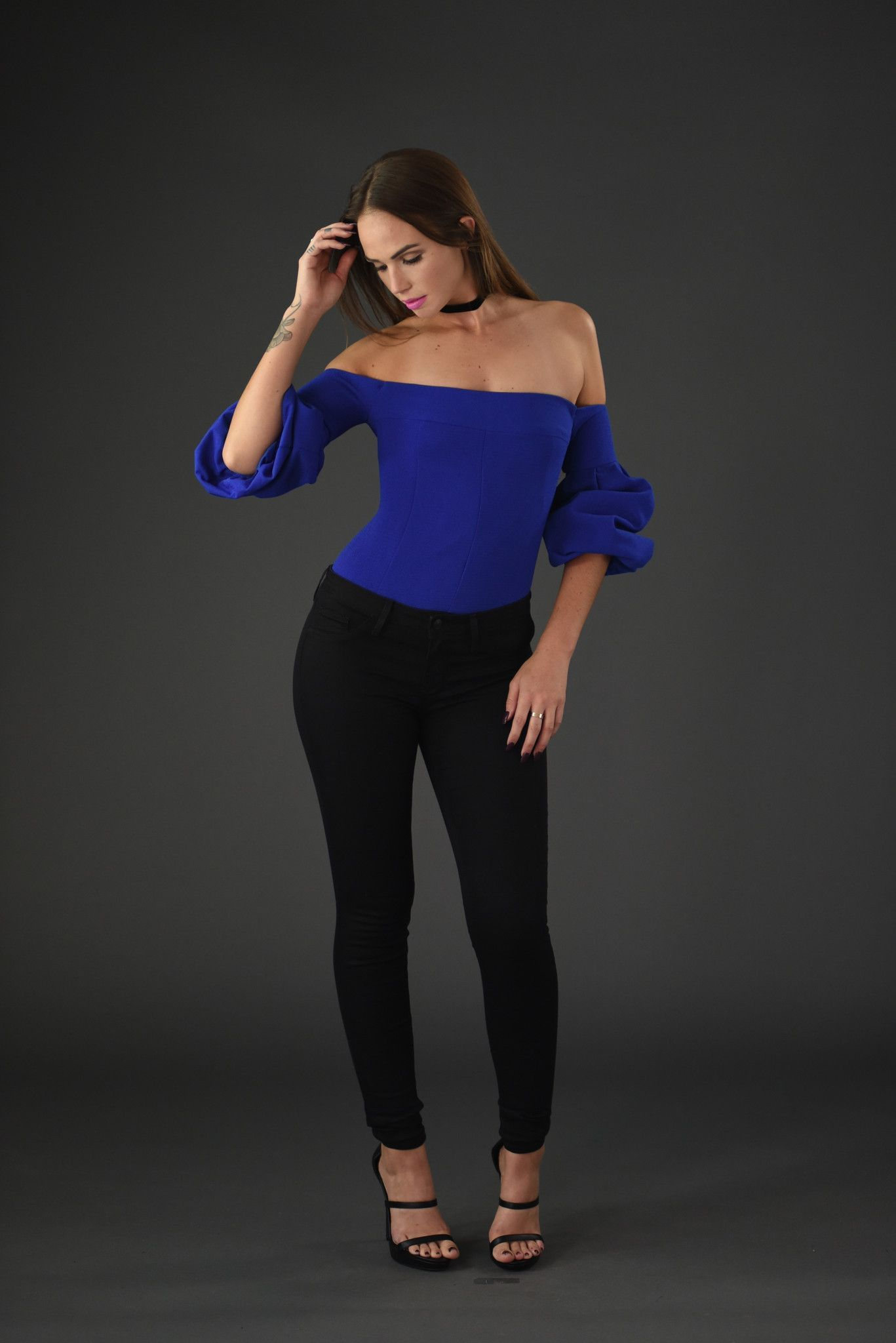 8c684f47db9b85 Bishop Sleeve Off Shoulder Top - Royal Blue | Ⓜy ȊnspiƦation Cȴoset ...