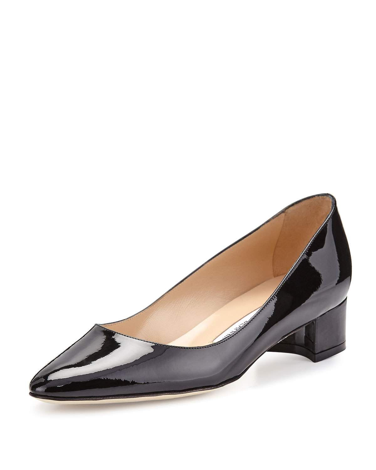fcab74c5cdd1a Listony Patent Low-Heel Pump | Shoes | Black pumps heels, Manolo ...