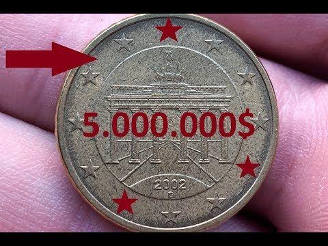 50 Eurocents Germany 2002 5 000 000 Rare Youtube In 2020 Geld Sparen Ideen 3d Karten Basteln Geld Verdienen
