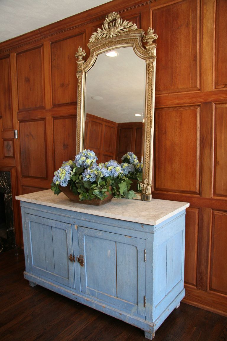 Antique French Buffet With Marble Top
