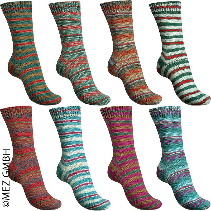 Gestrickte Socken Aus Sockenwolle Mit Seide Wollfuehlecke