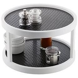 Lovely This Clever Two Tier Turntable Makes Sharing At A Big Table A Breeze. It  Features A Non Slip Grip To Ensure The Safety Of Everything Stored And Can  Even Be ...
