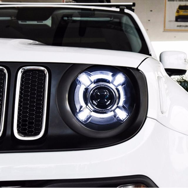 Details About Led Projector Xenon Hid Headlights Assembly For Jeep