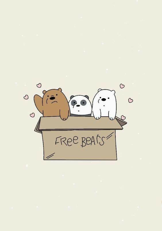 130 Ide We Bare Bears Beruang Kutub Kartun Boneka Hewan