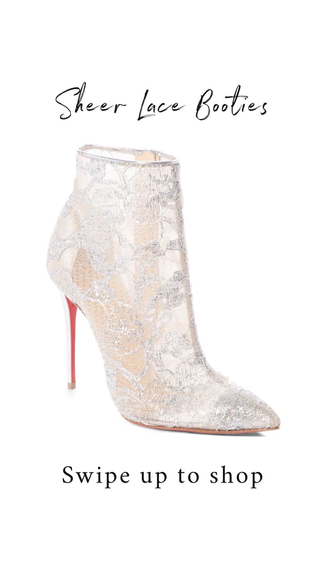 44ed6ac81ad2 Christian Louboutin · Booty · Lace Up Ankle Boots · Swag · Bridal bootie  https   shopstyle.it l XqIo Lace Booties