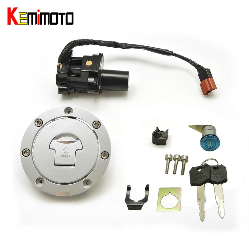 efe596523c48 KEMiMOTO Ignition Switch Fuel Gas Cap Lock Key for Honda CBR600RR ...