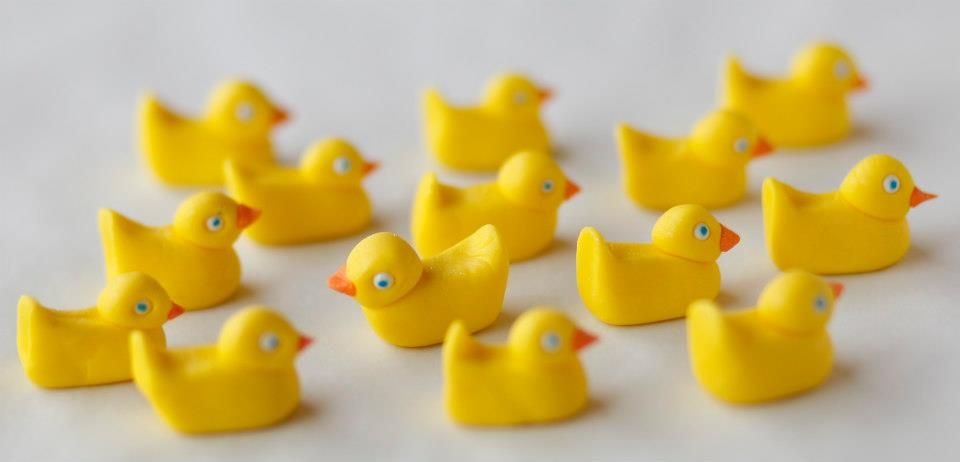 Fondant rubber duckies by Georgetown Cupcake (photo credit: Dayna Smith)