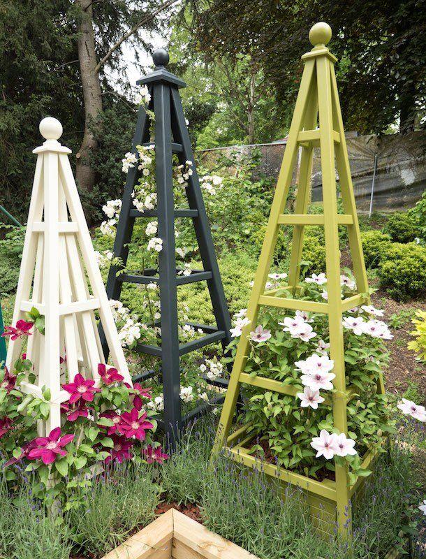 Wooden Garden Obelisk Gallery 1 Painted Obelisks