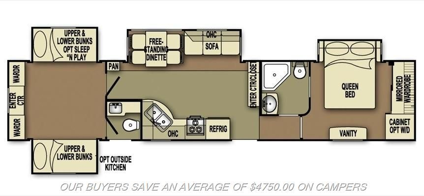 Hubby Likes The Floor Plan Going To Take Out The Bunks For Shelves And Desk Make An Office Huge Back Bedroom Rv Floor Plans Motorcycle Camping Camping Gear