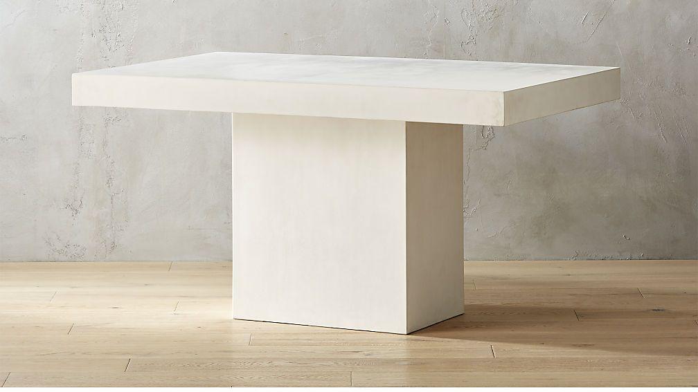 Fuze Ivory White Stone Dining Table Cb2 Cj Love However You
