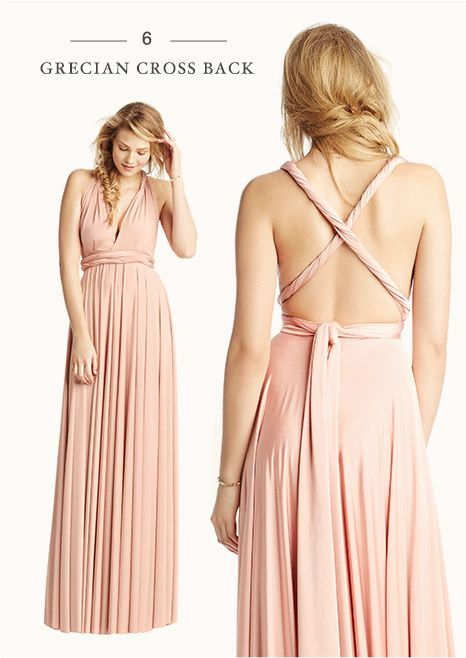 41649ca2f3 Grecian cross back. How to tie the convertible maxi-dress 8 ways - from  BHLDN
