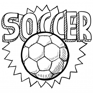 Soccer Ball Coloring Page For Kids Kids soccer Soccer ball and