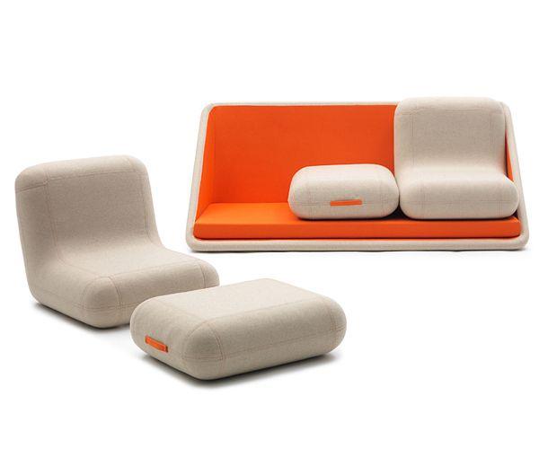 """A Modular Sofa """"Concentré de Vie"""" via beautifullife.info"""