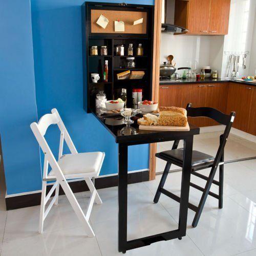 wandschrank memoboard und einer tafel auf der r ckwand wandklapptisch mit integriertem regal. Black Bedroom Furniture Sets. Home Design Ideas