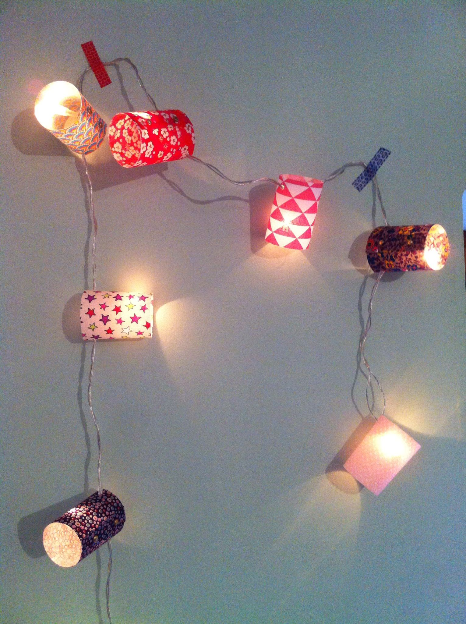 DIY : la guirlande colorée en tissus | Tuto couture | Pinterest ...