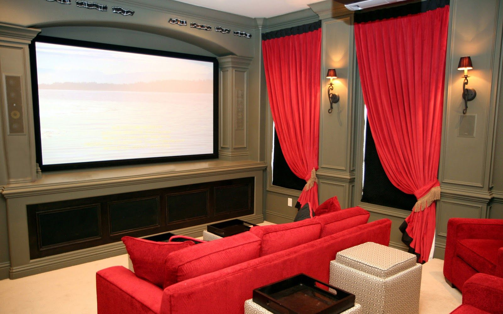 images about movie theme on pinterest movie rooms movie theme red and black home theater - Home Cinema Decor