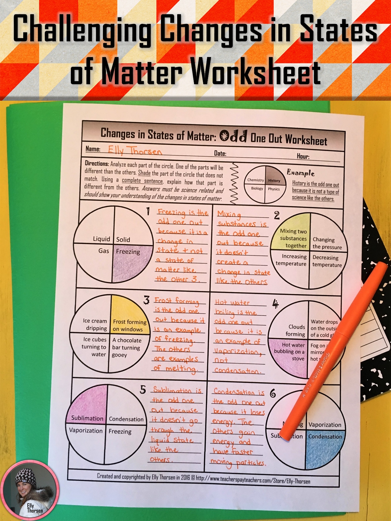 Get your middle school science students critically thinking about the  changes in states of matter with this …   States of matter [ 1707 x 1280 Pixel ]