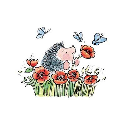Poppy Fields Rubber Stamp - Click Image to Close