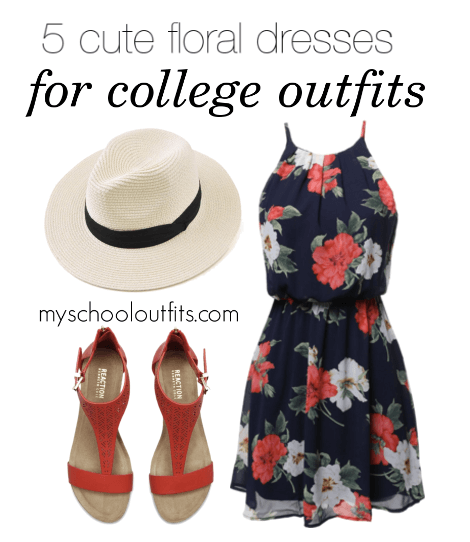 5 cute floral dresses for college outfits