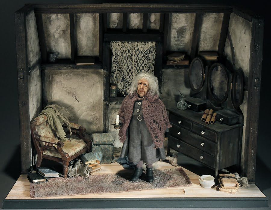 Creager Studios Our Newest Miniature Bathilda Bagshot Haunted Dolls Miniatures Haunted Dollhouse