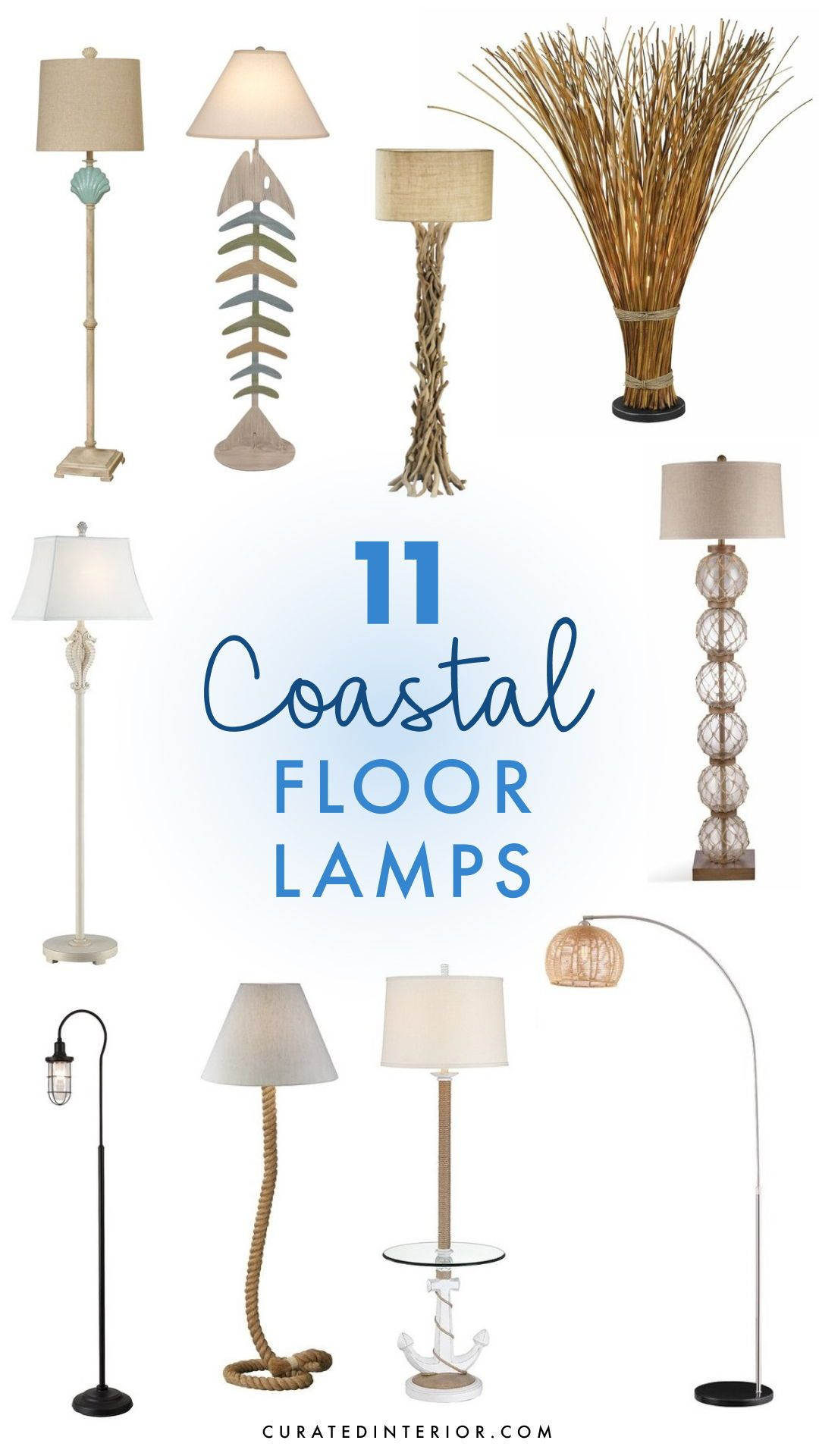 11 Coastal Floor Lamps For Your Beach Home Coastal Floor Lamps Floor Lamp Nautical Floor Lamps