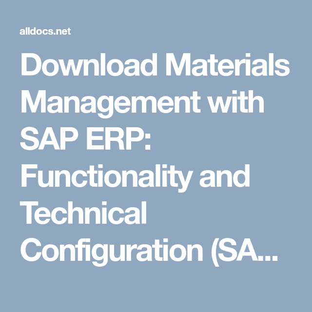 Download Materials Management with SAP ERP: Functionality
