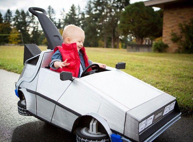 Cardboard DeLorean + Back to the Future #Halloween #costume